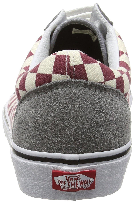062f43a7bce953 Vans Mens Checkerboard Old Skool Frost Grey Rhubarb Sneaker - 6  Amazon.ca   Shoes   Handbags