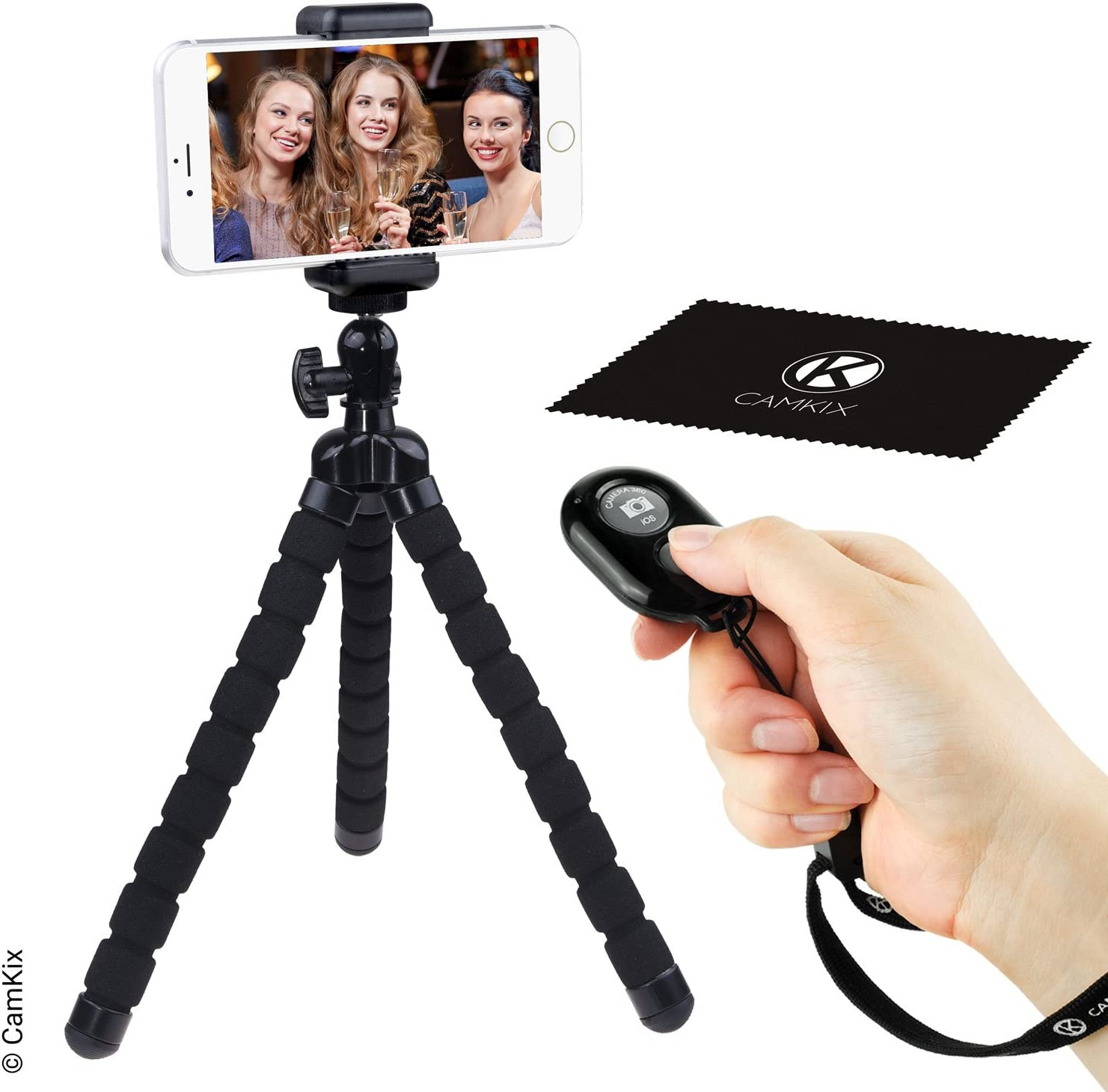 Travel mobile phone Tripod Mini Selfie Tripod Stand with Bluetooth remote control compatible with smart phone//camera