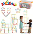 ZoZoplay Straw Constructor STEM Building Toys 400 Piece Straws and Connectors Building Sets Colorful Motor Skills Interlocking Plastic Engineering Toys Best Educational Toys Boy & Girl