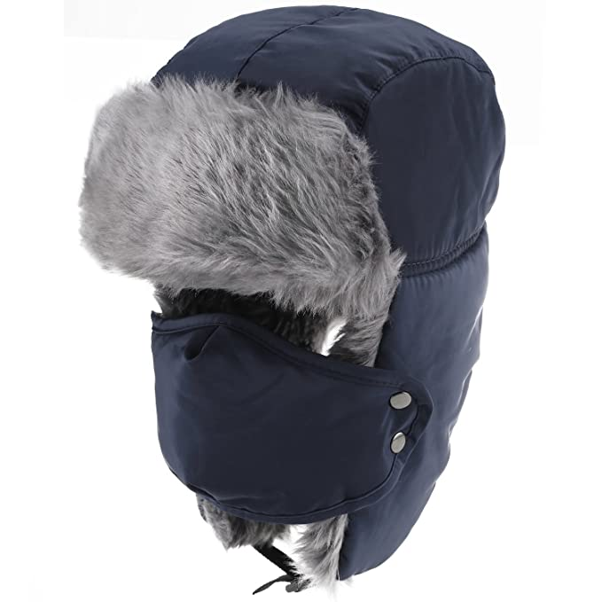 416cde4f209 Upower Unisex Winter Trooper Trapper Hat Hunting Hat Ushanka Ear Flap Chin  Strap and Windproof Mask