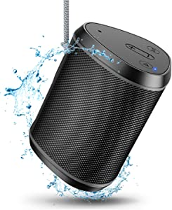 Comsoon Portable Bluetooth Speakers, Wireless Mini Speaker with Stereo Sound Effect, Rich Bass, 66ft Bluetooth Range, Built-in Mic, Support AUX/TF Card, IPX6 Waterproof Outdoor Speaker for iPhone iPad