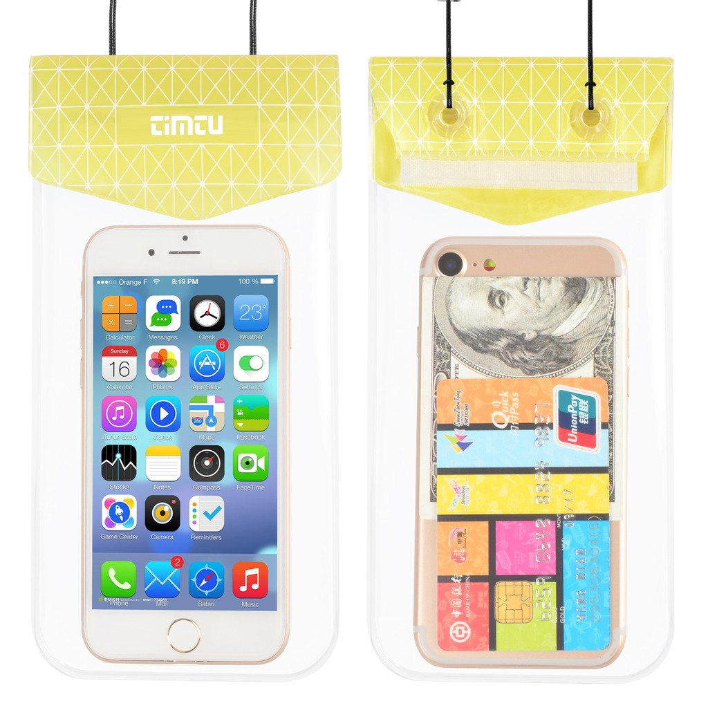 Yellow Universal Dry Bag Waterproof Phone Bag Pouch for Devices up to 6.5 inches Universal Dry Bag Waterproof Phone Bag Pouch for Devices up to 6.5 inches TIMTU Waterproof Case