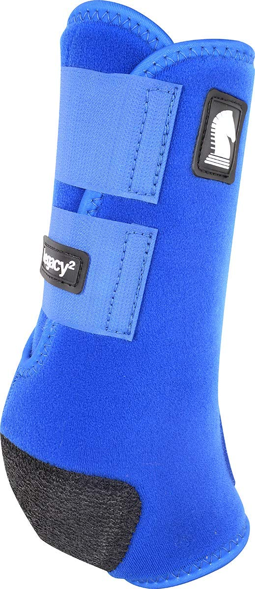 Classic Equine Legacy2 System Hind Boot (Solid), Blue, Medium