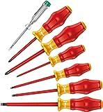 1160 i/1165 i/7 Screwdriver set Kraftform Comfort VDE and voltage tester, 7 pieces