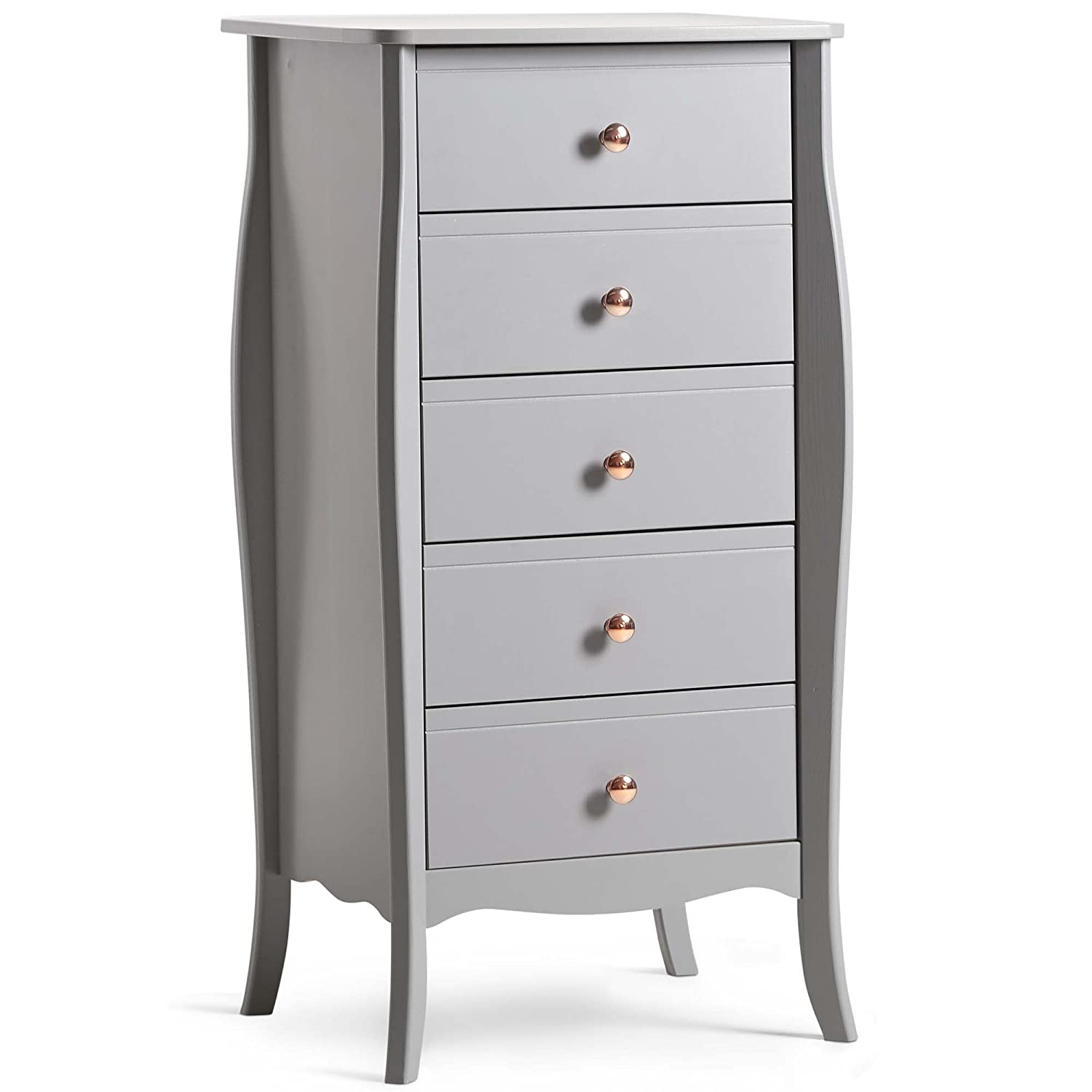 Beautify Grey Bedroom Furniture Set (Grey, Wardrobe)