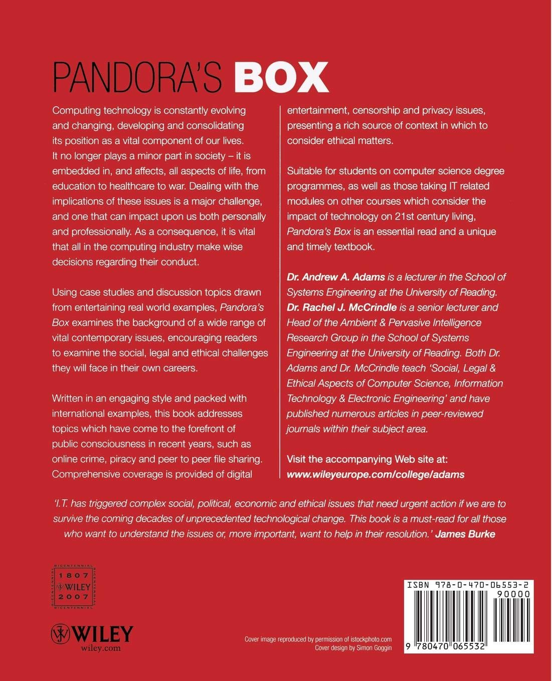Pandora's Box: Social and Professional Issues of the