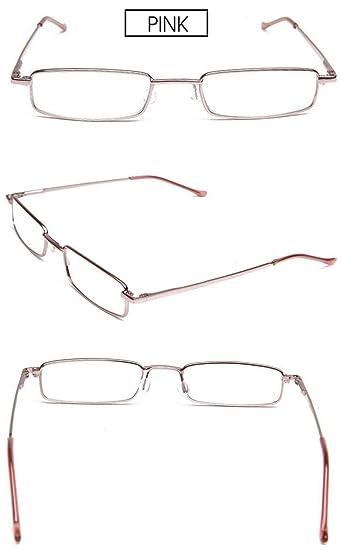 VEVESMUNDO Lesebrille Metall Klassische Scharnier Schmal Stil Brille Lesehilfe Augenoptik Vollrandbrille Mit Etui (7 Farben Pack, 1.5)