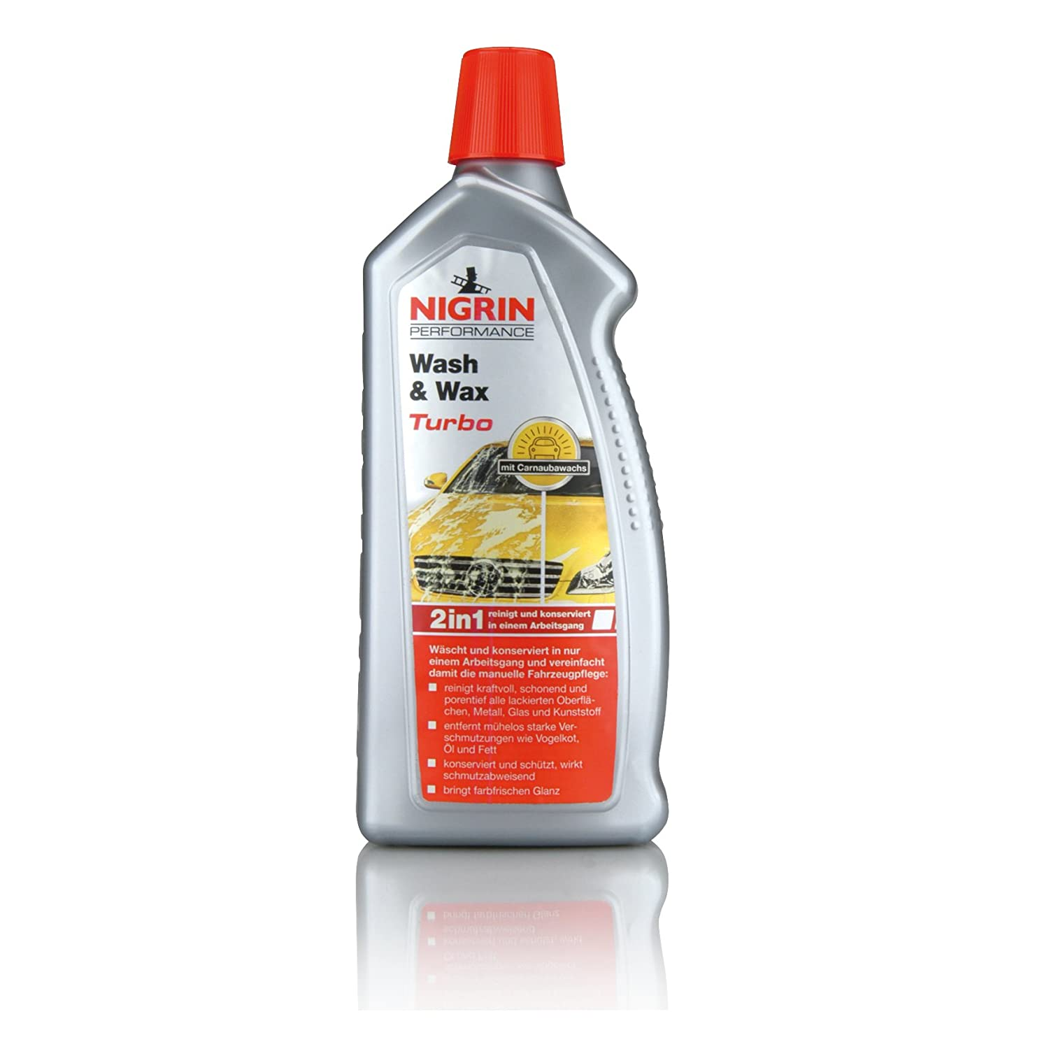 Nigrin 73878 Performance Wash und Wax Turbo, 1 L