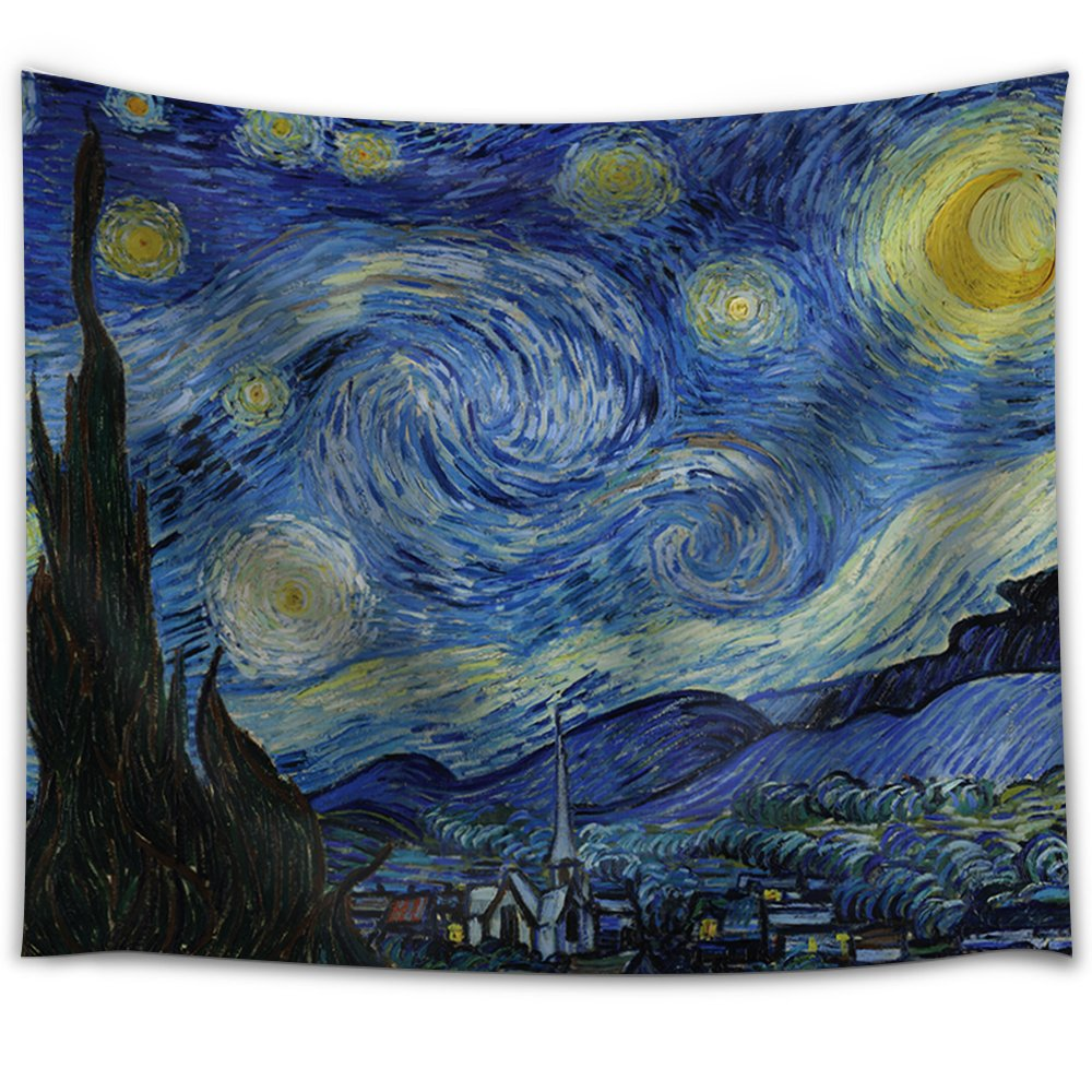 Wall26® - Starry Night by Vincent van Gogh - Fabric