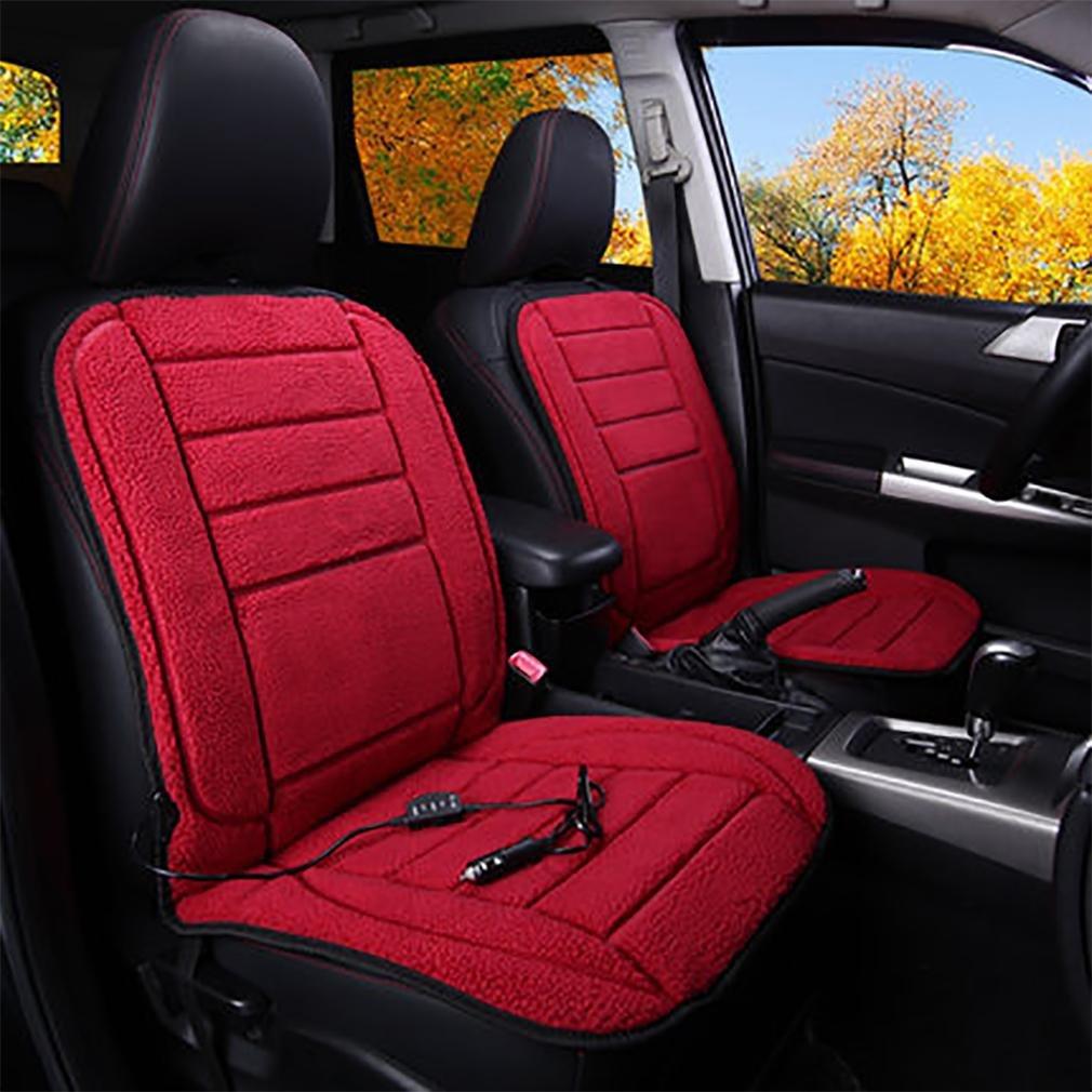 lpy 2 pcs si ge de voiture pad chauffant si ge de voiture chauff coussin couverture chaude. Black Bedroom Furniture Sets. Home Design Ideas