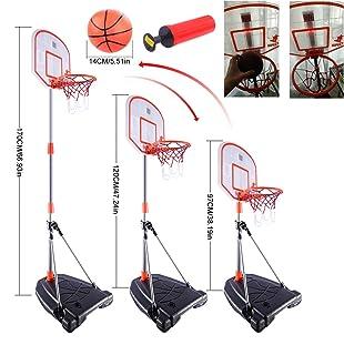 MRKE Canestro Basket Bambini, 170cm Regolabile Canestro Basket con Indicatore del Punteggio