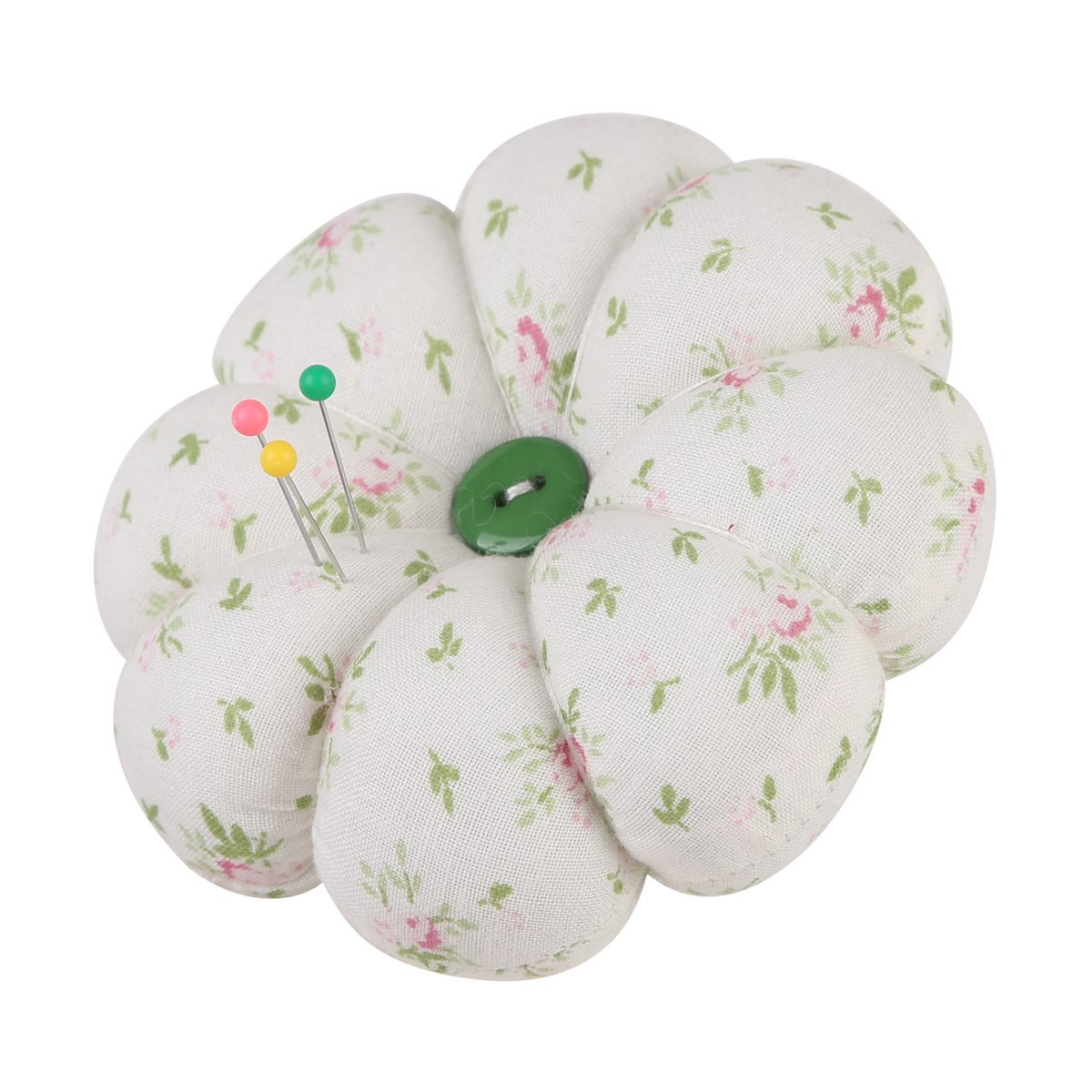 Neoviva Wrist Wearable Pumpkin Pincushion for Needlework Floral Mist Green
