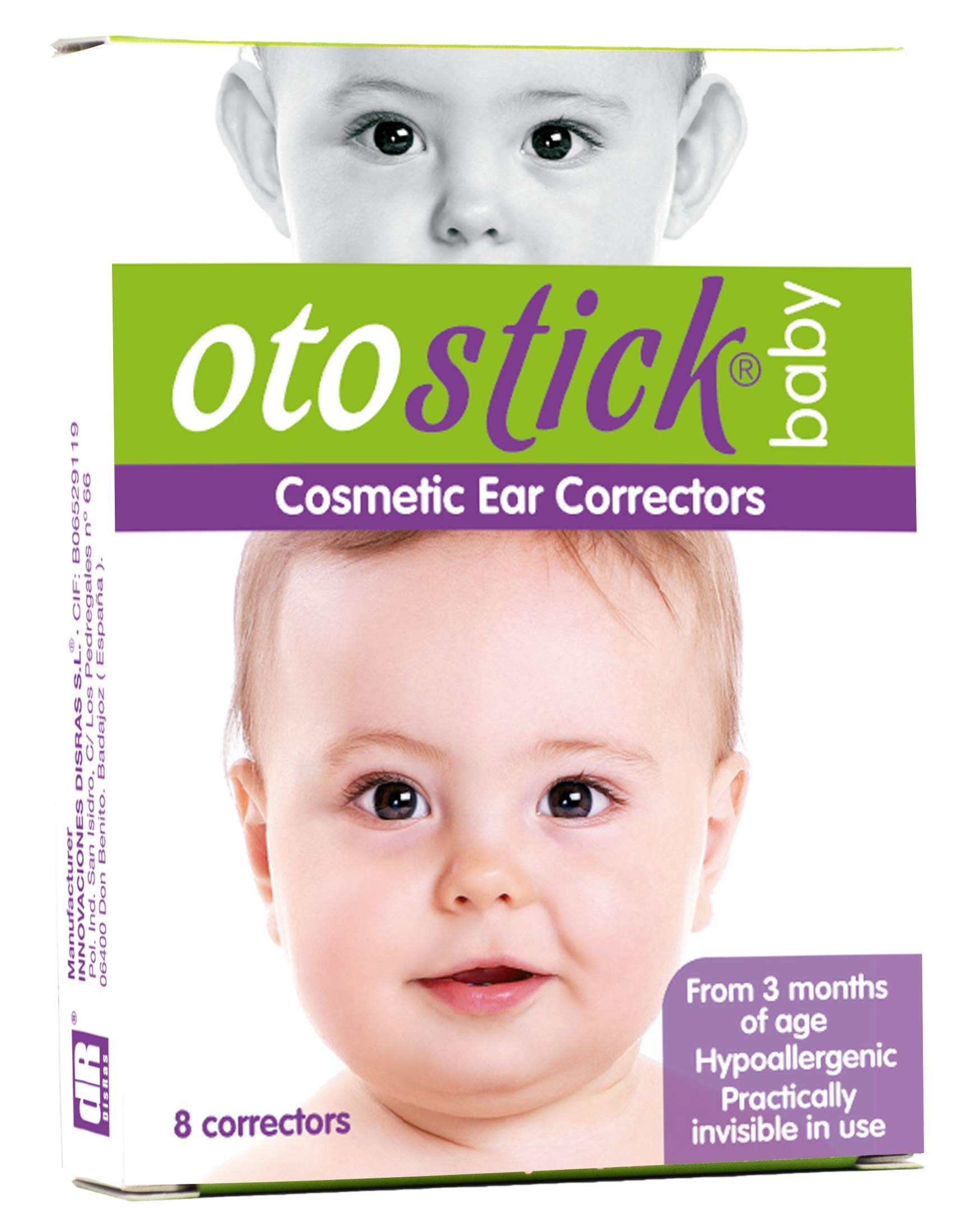 Otostick® Baby aesthetic correctors for protruding ears.