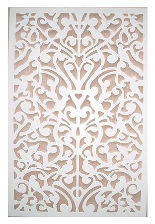 Acurio Ginger Dove White Vinyl Lattice Decorative Privacy Panel