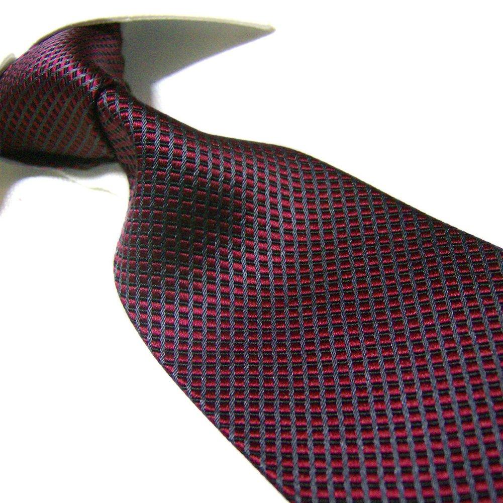 Towergem Extra Larga Corbata de 100% seda XL Borgoña Color puro ...
