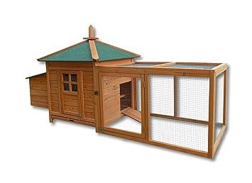 Conejera Casa Caseta Animales pequeños Madera Exterior Mascota Jaula Corredor