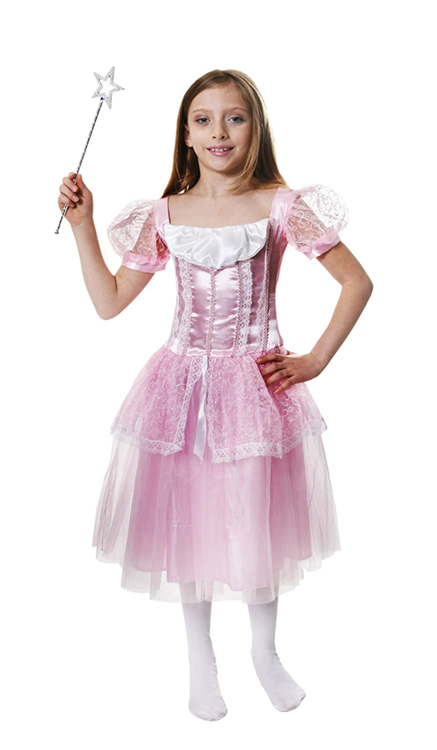 Girls Pink Princess Fancy Dress Costume Age 4-6: Amazon.co.uk: Toys ...