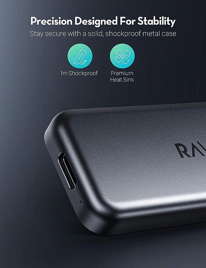 Ravpower Mini External Ssd Hard Drive 512gb Portable Elektronik