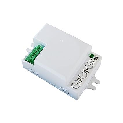 500 W detector de movimiento Microondas Radar Sensor Interruptor detector de presencia 360 °