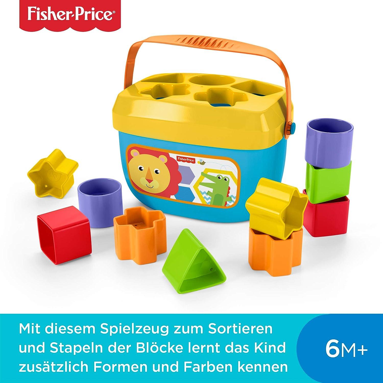 Fisher Price Brilliant Basics Babys erste Bausteine Kinder ab 6 Monate Kleinkindspielzeug