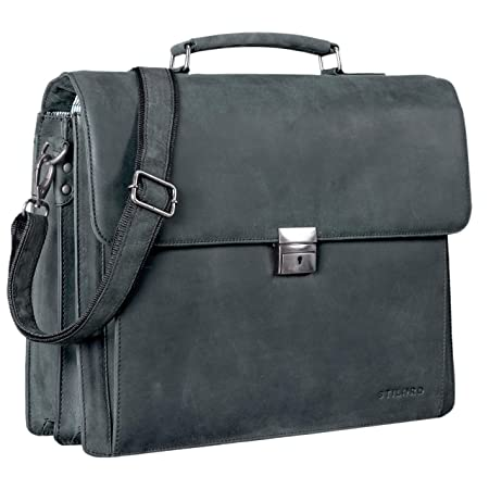 0eaf99aab3 STILORD  Johann  Classic Leather Briefcase with 15.6 inches Laptop  Compartment Portfolio Men   Women