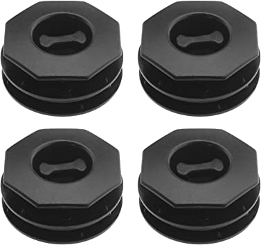 4Pcs Dual Layer Car Mat Retainer Carpet Anti-Slip Buckle Twist Plastic Clip Fixing Mounting Black