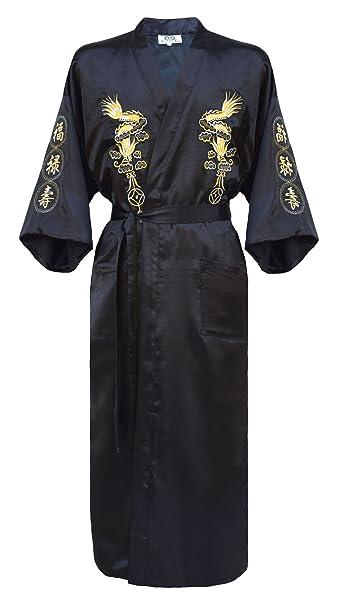kimono japonés para los hombres, bata elegante estilo chino varios colores a elegir: Amazon.es: Ropa y accesorios