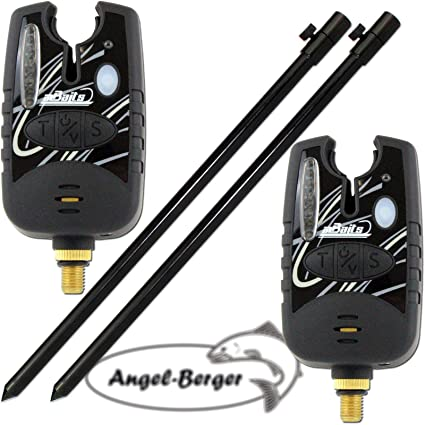 Angel Berger 2X Elektronische Bissanzeiger mit Tele Erdspeer