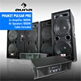 Pack DJ Sono Complet 4000W 4 Enceintes 2 Amplis Mosfet
