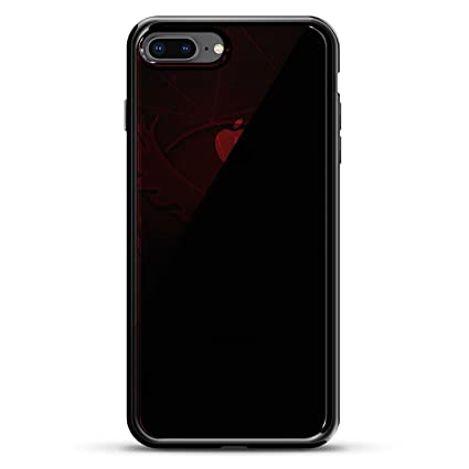 b0f29d4be1c Image Unavailable. Image not available for. Color: POKEMON GO INSPIRED  VALOR RED DESIGN CHROME SERIES CASE IN TITANIUM BLACK FOR IPHONE 7 PLUS