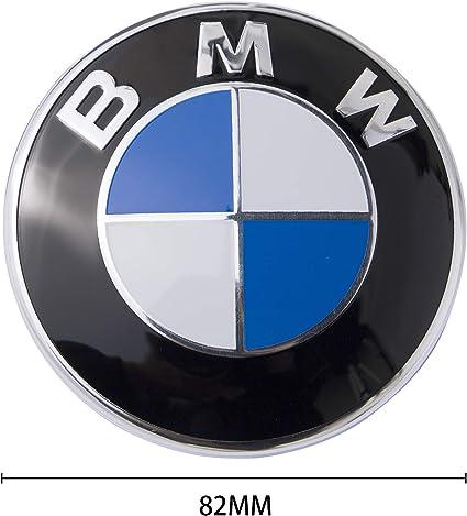 LODYPERO 2PCS Emblema De Cap/ó De 82 Mm En Blanco Y Negro//Emblema De Maletero De 74 Mm con 2 Ojales De Repuesto para B M W X3 X5 X6 3 4 5 6 7 8 Series 325I 328I E46 E30 E36 E34 E38 E39 E60 E65 E90