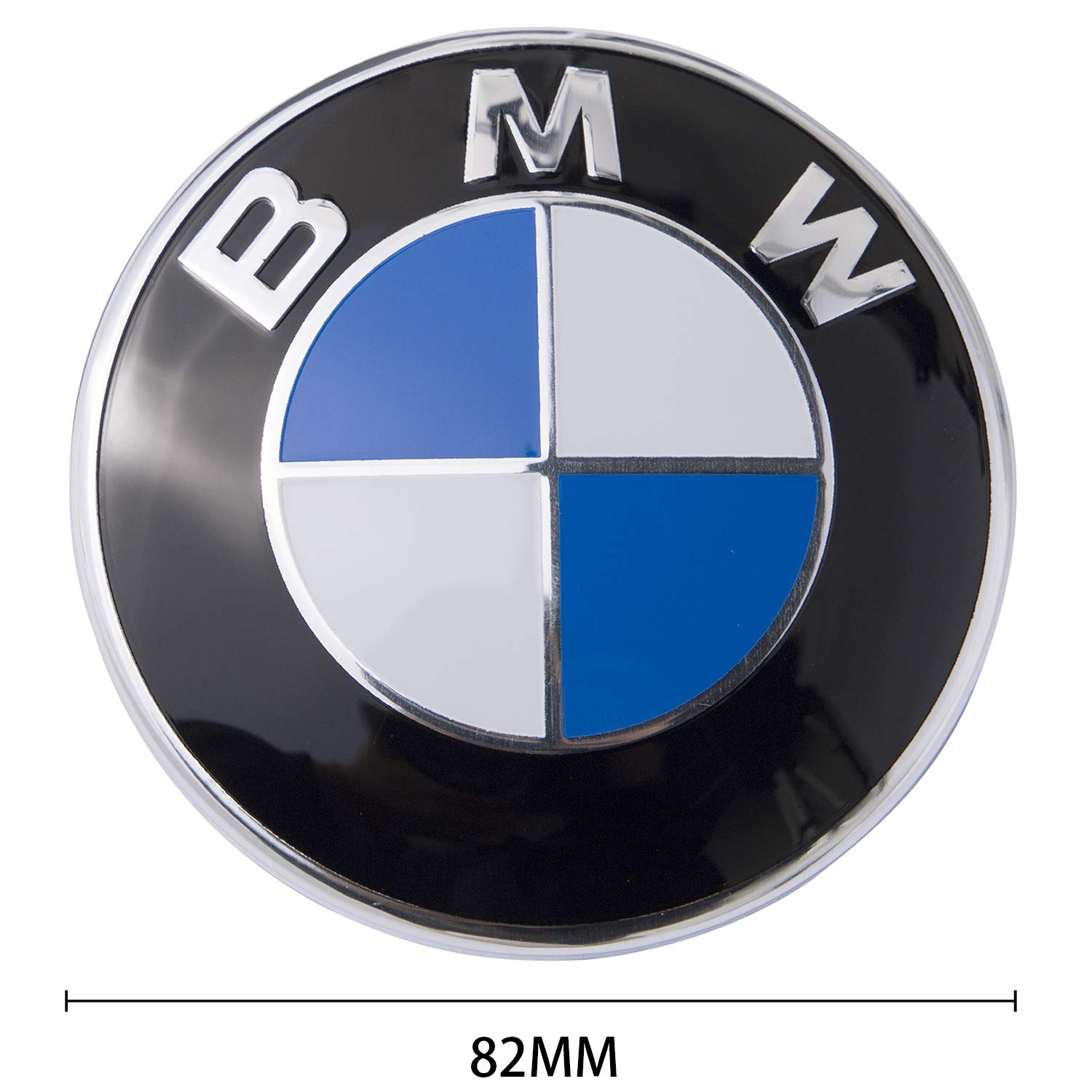 BMW Emblem Replacement for BMW Hood or Trunk E30 E36 E34 E60 E65 E38 X3 X5 X6 3-Series 82mm 7-Series etc 1 Pack 5-Series 82MM /& 73MM 6-Series BMW Logo