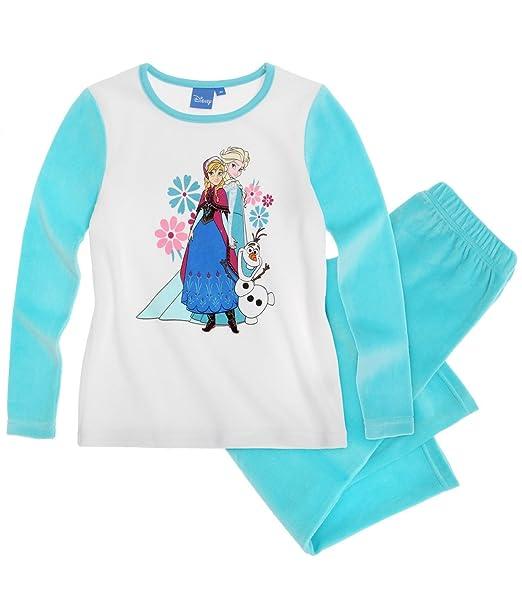 Disney El reino del hielo Chicas Pijama (Velour) - Azul - 140