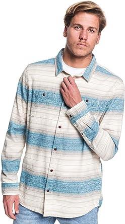 Quiksilver - Camisa de Manga Larga - Hombre - M - Azul ...