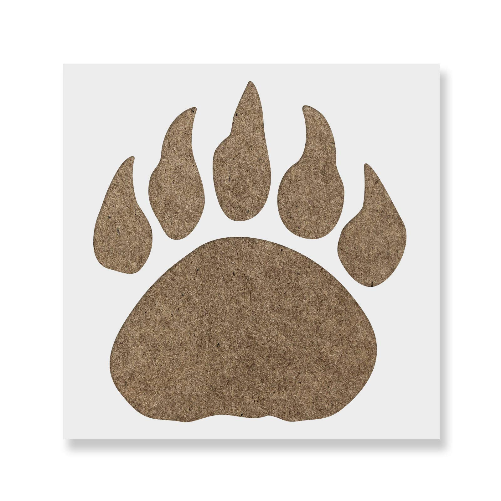 Bear Claw Stencil for Walls and Crafts - Reusable Stencil of a Bear Claw for Painting in Small & Large Sizes - Made in USA
