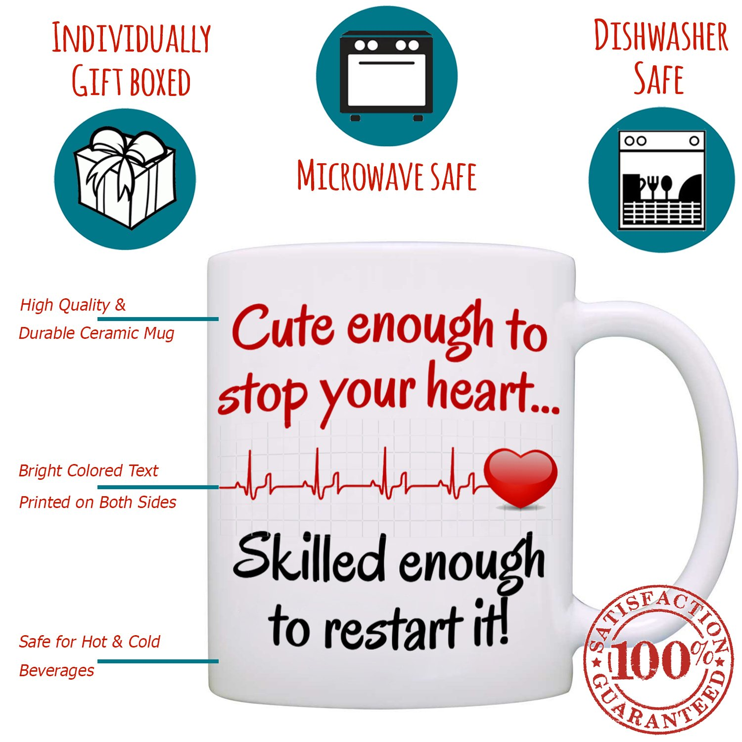 8b1827a9a Amazon.com: Funny Doctor and Nurse Gifts Mug - Birthday and Graduation Gift  Ideas for RN CNA LPN Registered and Practitioner Nurses - Presents for  Medical ...