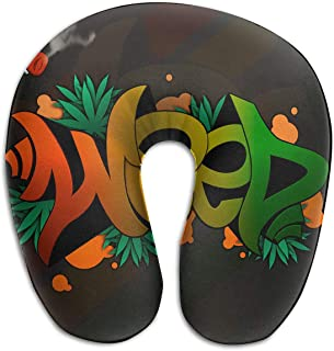 Miedhki Multifunctional Neck Pillow Funny Logo U-Shaped Soft Pillows Portable for Sleeping Travel New12