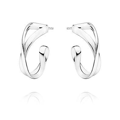 5e7153714 Georg Jensen Sterling Silver Infinity Hoop Earrings: Amazon.co.uk: Jewellery