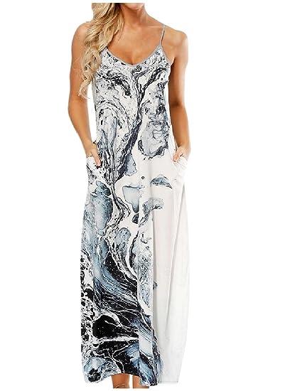 132ea31cc62 RDHOPE-Women Beach Wear Digital Print Sling Plus Size Full Length Dress at  Amazon Women s Clothing store