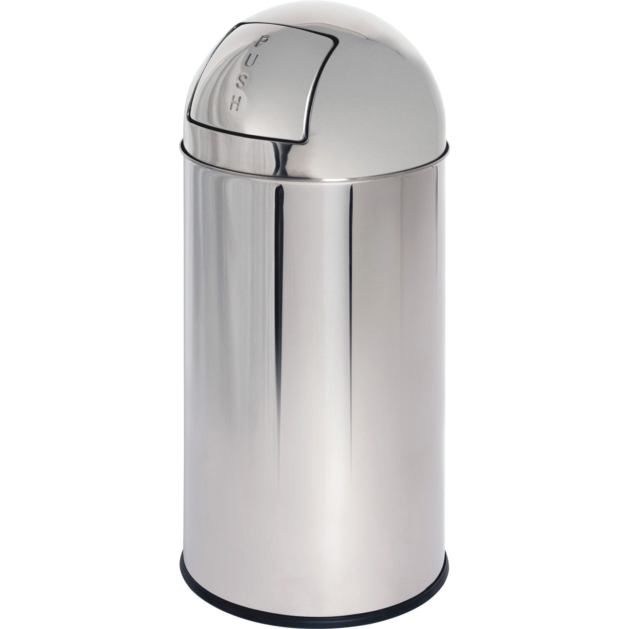 Genuine Joe GJO58885 Stainless Steel Classic Round Top Waste Receptacle, 12 gallon Capacity