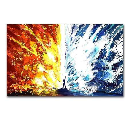 No Frame Nube abstracta Pintura Pintura Mural Arte Lienzo ...