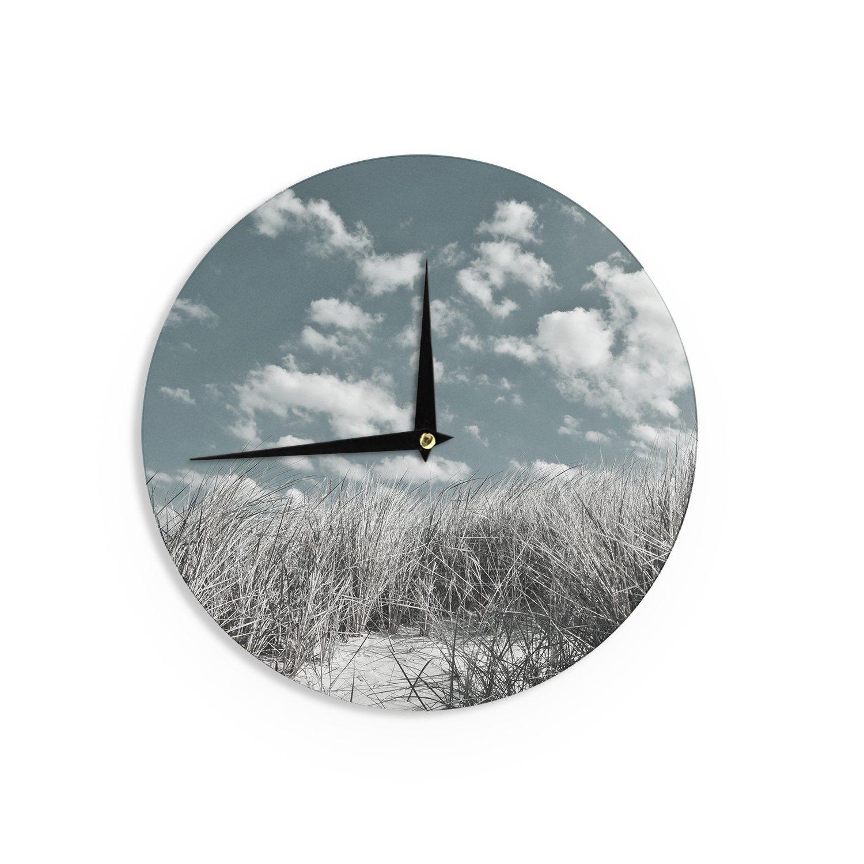 Kess InHouse Iris Lehnhardt Dunes Gray Blue Wall Clock 12