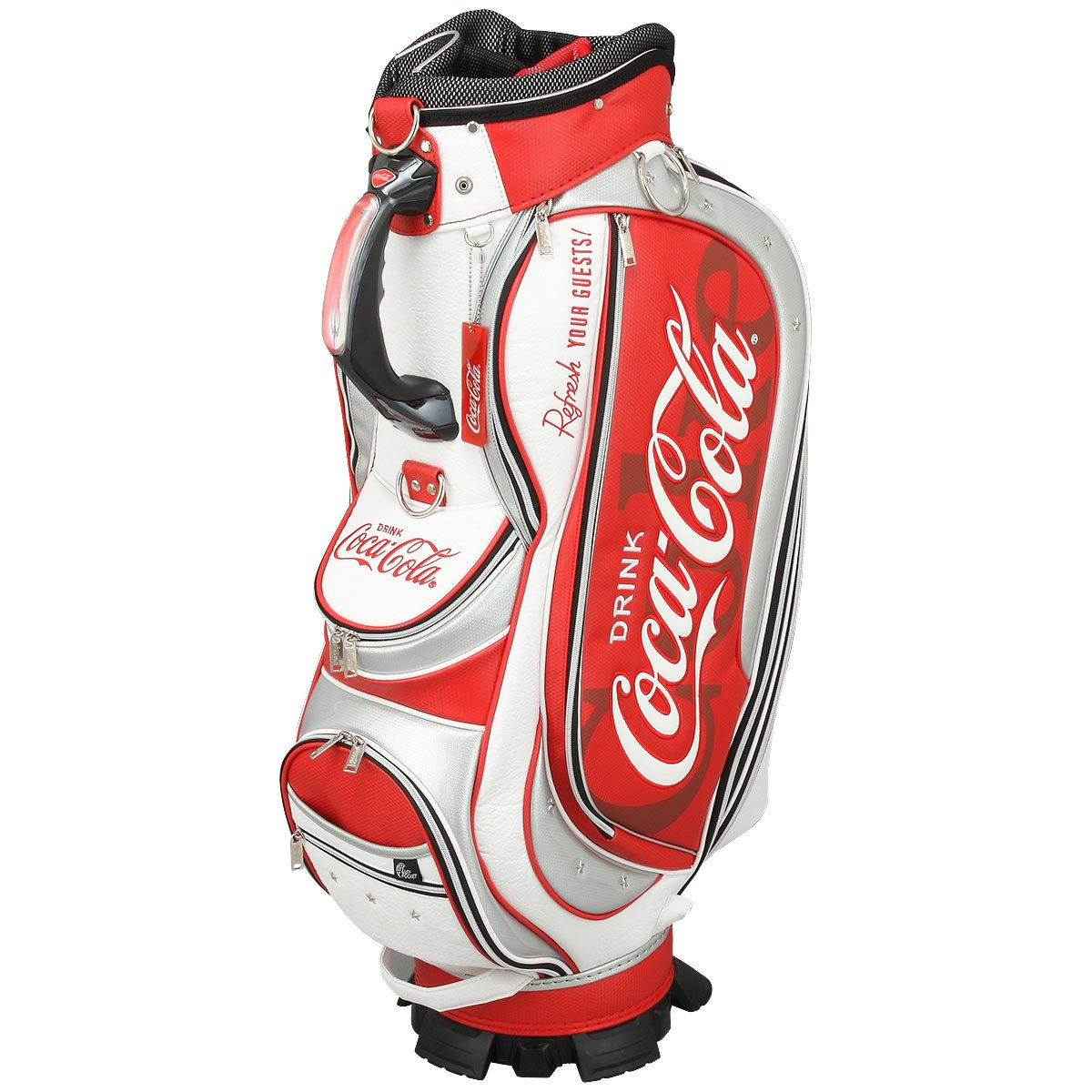 Coca-Cola(コカコーラ) ゴルフ キャディバッグ ホワイト×レッド B06WGV291Z
