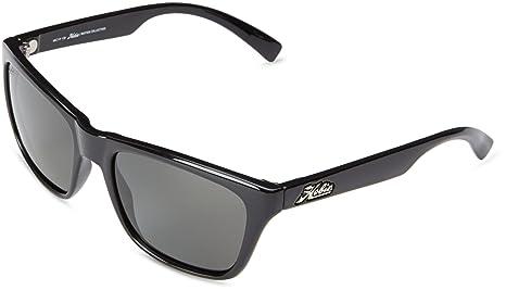 70dd1a777ce Hobie Sunglasses Woody 50GGY Shiny Black Frame Polarized Grey Lens ...