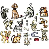 Sizzix 661594 Framelits Mini Crazy Cats and Dogs Die Set, 45 Pieces
