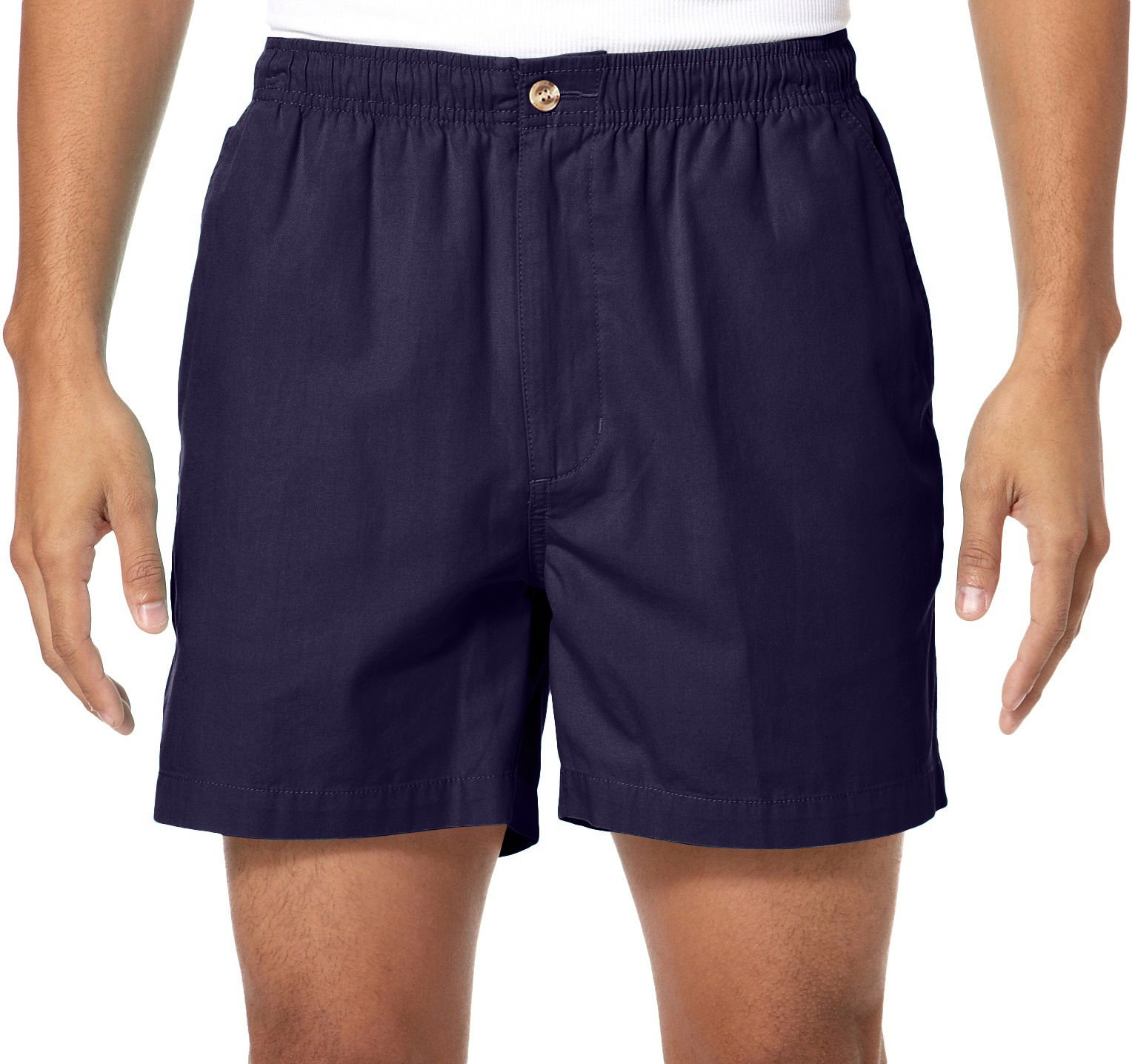Windham Pointe Mens Solid 7'' Elastic Waist Shorts X-Large Peacoat Navy Blue