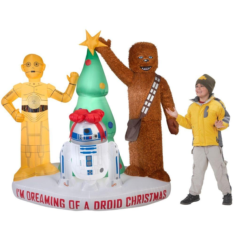 6 pies Inflable Star Wars Im Dreaming of a Droid Christmas ...