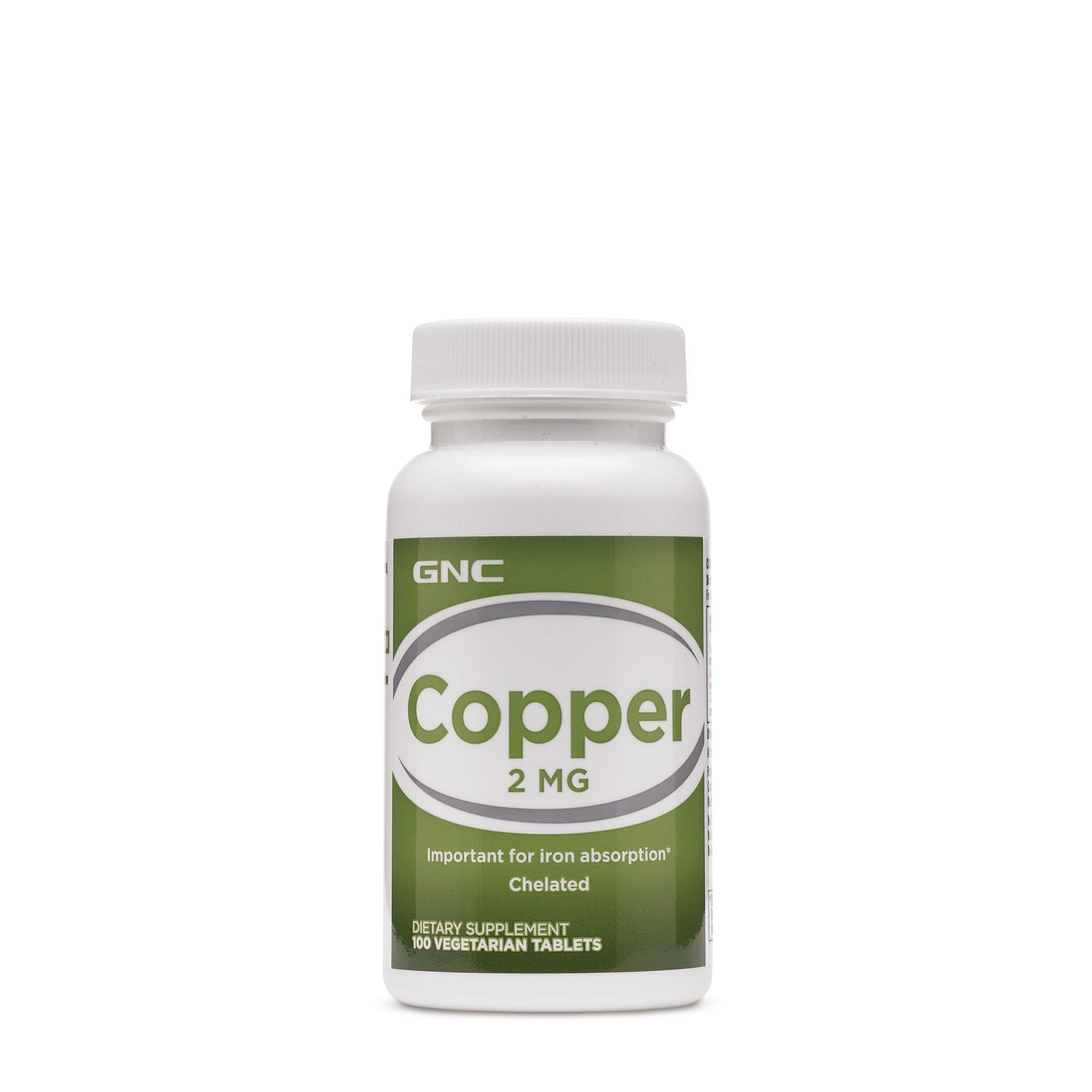 GNC Copper 2 MG 100 Vegetarian Tablets