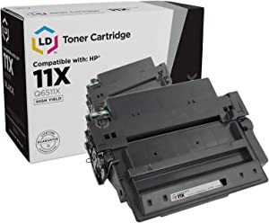 LD Compatible Toner Cartridge Replacement for HP 11X Q6511X High Yield (Black)