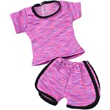 MagiDeal Fashion Sports Uniform Clothes for 18inch American Girl My Life Journey Dolls Outfit